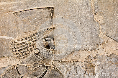Bas-relief of Persian soldier