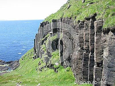 Basalt columns near Carsaig, Mull