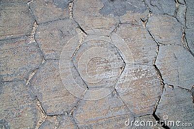 Basalt-Spalte-Enden