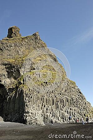 Basalt volcanic rock, Iceland.