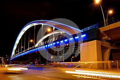 Basarab bridge in the night