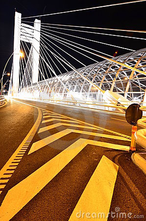 Basarab bridge by night - light architecture
