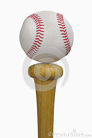 Baseball Balancing on Bat