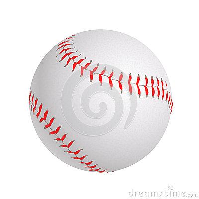 Free Baseball Ball On White Royalty Free Stock Images - 87817849