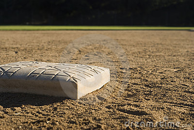 Baseball Base Stock Image