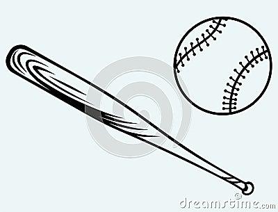 Baseball and baseball bat