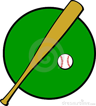 Baseball Bat And Ball Vector Illustration Stock Photo - Image: 5078590