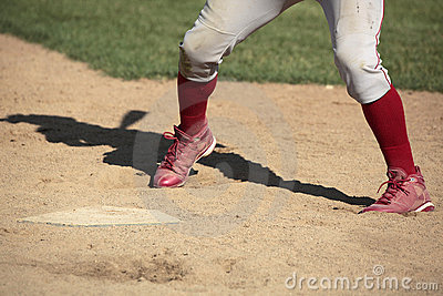 Baseball batter at home plate