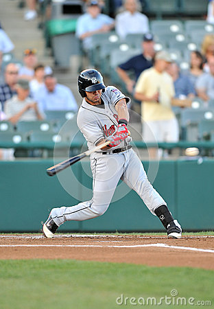 Baseball batter swing Editorial Stock Photo