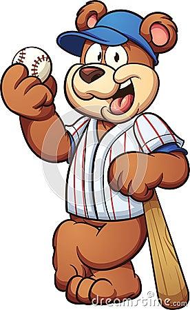 Baseball bear Vector Illustration