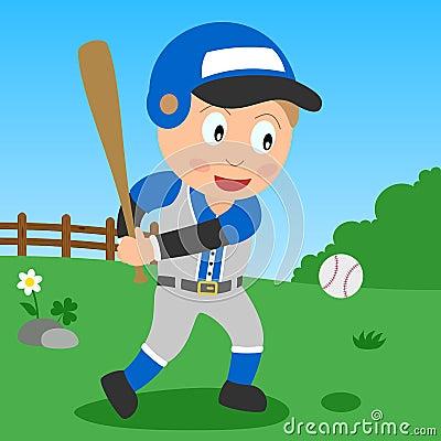 Baseball Boy in the Park