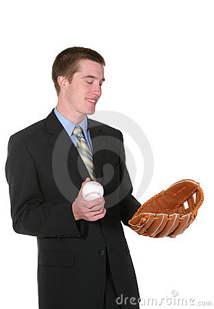 Baseball Business Man