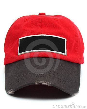 Baseball cap with blank label