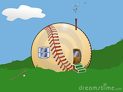 Baseball Cartoon House