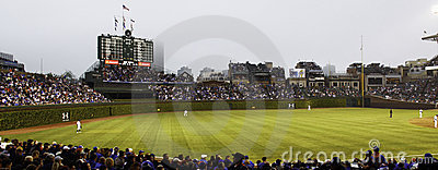 Baseball - Chicago Cubs - Wrigley Field Outfield Editorial Stock Photo