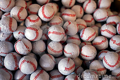 Baseball chocolate candies texture background