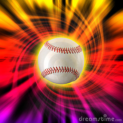 Baseball color swirl