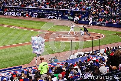 Baseball - Cotton Candy Vendor at the Ball Park