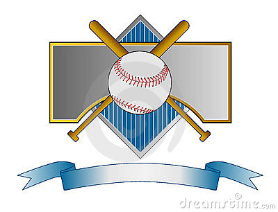 Baseball crest with bat