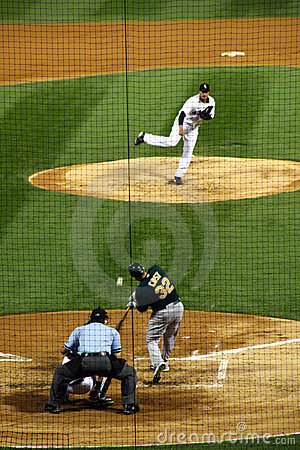 Baseball - Designated Hitter at Bat Editorial Stock Photo
