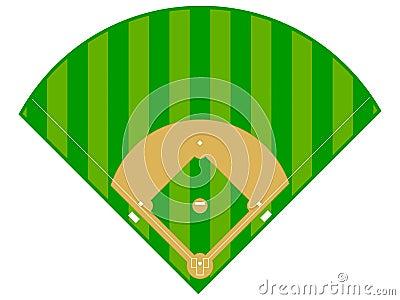 Baseball Diamond Vector Illustration