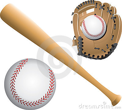 Baseball diamonds, balls, and bats