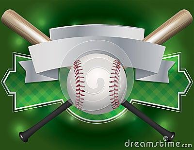 Baseball Emblem and Banner Illustration