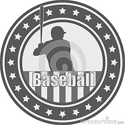 Free Baseball Emblem - Vector Royalty Free Stock Images - 98393789