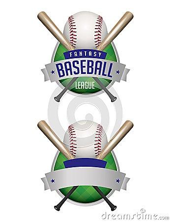 Baseball Emblems Illustration