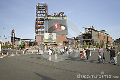 Baseball fans entering the Citizens Bank Park Editorial Image