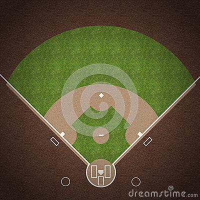 Free Baseball Field Royalty Free Stock Photo - 36731285
