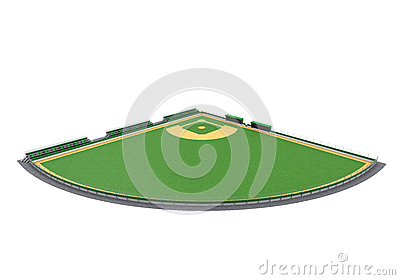 Baseball Field Isolated