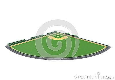 Baseball Field Isolated
