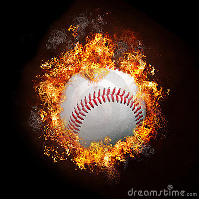 Baseball on Fire