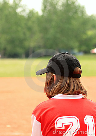 Free Baseball Girl Royalty Free Stock Photography - 5560717