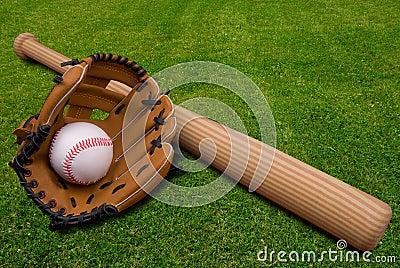 Baseball Glove Bat And Ball On Stock Photo Image 2785160