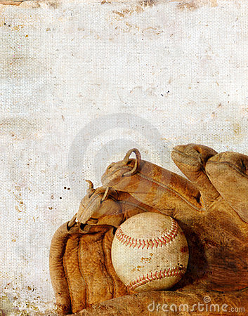 Baseball and Glove on Grunge background