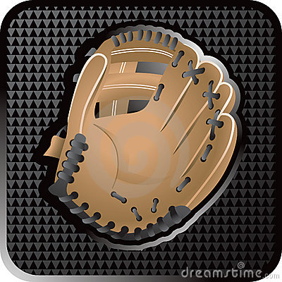 Baseball glove web icon