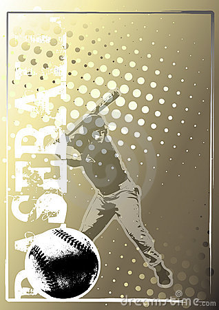 Baseball golden poster background 4