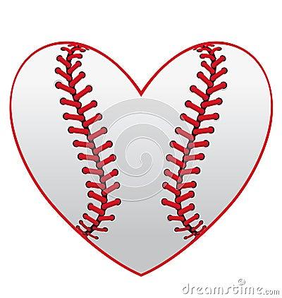 Free Baseball Heart Royalty Free Stock Photo - 25096785
