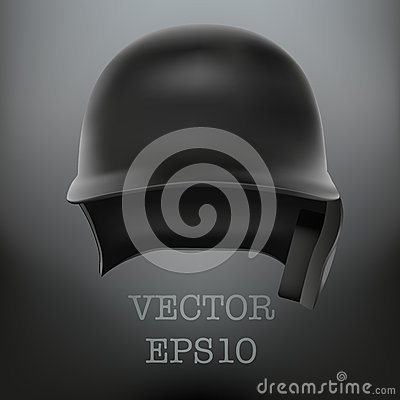 Baseball Helmet Front View