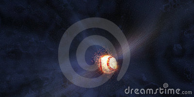 Baseball Hit into Space
