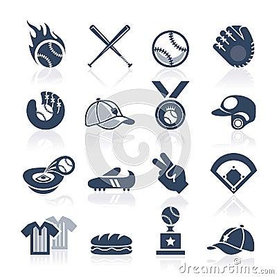 Free Baseball Icon Set Stock Image - 41923411