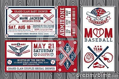 Baseball labels Vector Illustration