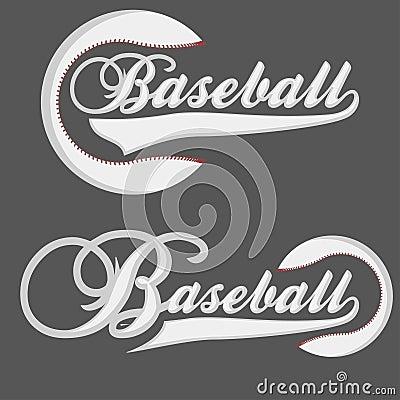 Baseball Logotpe Vector Illustration