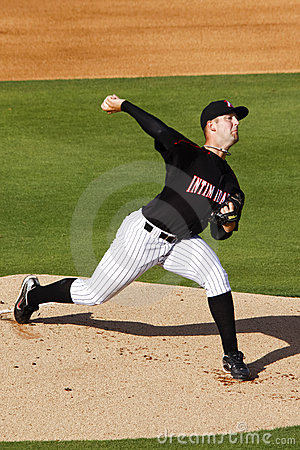 Baseball Minor League Pitching Prospect Editorial Image