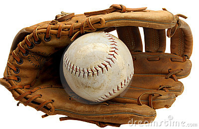 Baseball Mitt and Softball