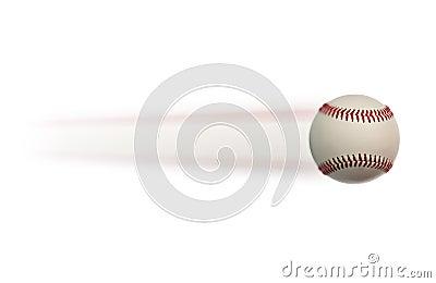 Baseball in motion