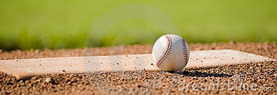Baseball on Mound Stock Photo