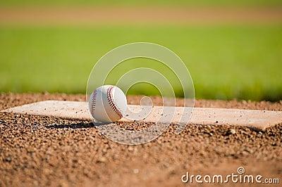 Baseball on Mound